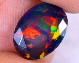 1.21cts Natural Ethiopian Welo Faceted Smoked Opal / NY2994