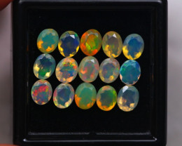 3.43Ct Natural Ethiopian Welo Faceted Opal Lot W280