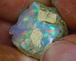 15.86Ct Multi Color Play Ethiopian Welo Opal Rough GN62/R2