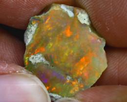 14.50Ct Multi Color Play Ethiopian Welo Opal Rough GN71/R2