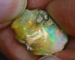 11.03Ct Multi Color Play Ethiopian Welo Opal Rough GN75/R2