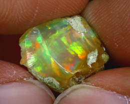 10.78Ct Multi Color Play Ethiopian Welo Opal Rough GN80/R2