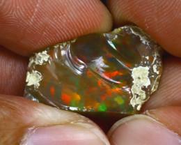 9.72Ct Multi Color Play Ethiopian Welo Opal Rough GN92/R2