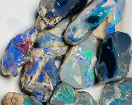 89 CTs Bright Rough Nobby Opals to Cut - Watch The Video Please