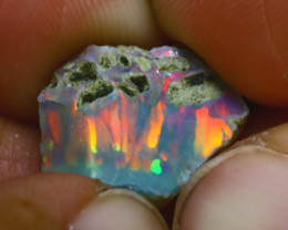 6.13Ct Multi Color Play Ethiopian Welo Opal Rough H1402/R2
