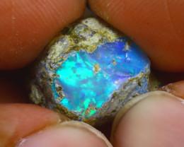 12.01Ct Multi Color Play Ethiopian Welo Opal Rough H1405/R2
