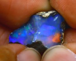 6.75Ct Multi Color Play Ethiopian Welo Opal Rough H1406/R2
