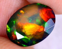 2.02cts Natural Ethiopian Welo Faceted Smoked Opal / NY3028