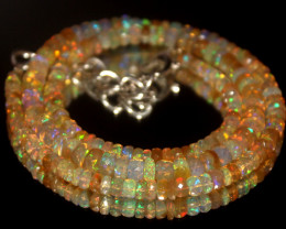 47.60 Crts Natural Welo Faceted Opal Beads Necklace 362