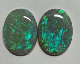 25.3 Lightning Ridge Dark Opal pair