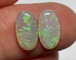 4.2ct Lightning Ridge Crystal Opal Pair
