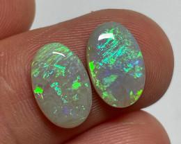 4ct Lightning Ridge Light Opal Pair