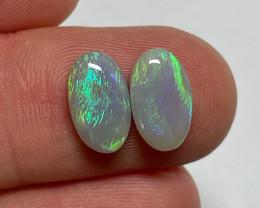 3.7ct Lightning Ridge Light Opal Pair
