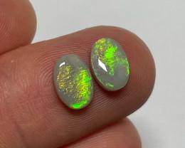 2.3ct Lightning Ridge Light Opal Pair