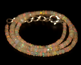 35.55 Crts Natural Welo Faceted Opal Beads Necklace 354
