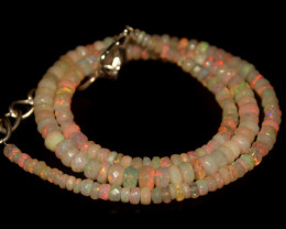 43.25 Crts Natural Welo Faceted Opal Beads Necklace 351