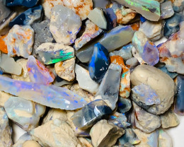 Plenty of Colours in Rough - Multicolour Potential Rough Opals to Gamble &