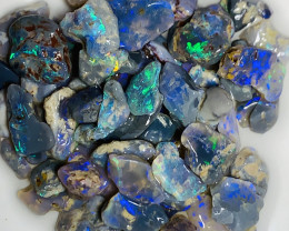 Plate of Colours- Little Bright Stunning Rough Nobby Opals#068