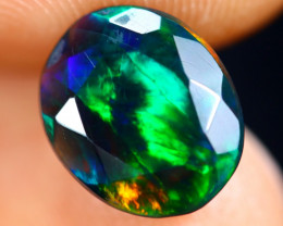 1.35cts Natural Ethiopian Welo Faceted Smoked Opal / HM2826