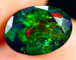 1.70cts Natural Ethiopian Welo Faceted Smoked Opal / HM2838