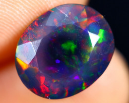 2.73cts Natural Ethiopian Welo Faceted Smoked Opal / HM2840