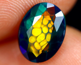 1.23cts Natural Ethiopian Welo Faceted Smoked Opal / HM2857