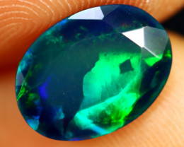 1.64cts Natural Ethiopian Welo Faceted Smoked Opal / HM2861