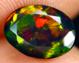 1.27cts Natural Ethiopian Welo Faceted Smoked Opal / HM2865