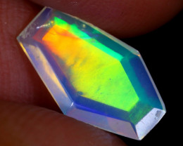 1.14cts Natural Ethiopian Coffin Cut Double Faceted Welo Opal / UX872
