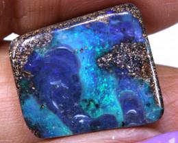 14.40 cts boulder opal polished cut stone  TBO-A3571          trueblueopal