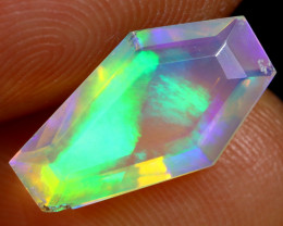 1.62cts Natural Ethiopian Coffin Cut Double Faceted Welo Opal / BF8097