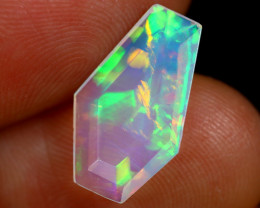 1.71cts Natural Ethiopian Coffin Cut Double Faceted Welo Opal / BF8118
