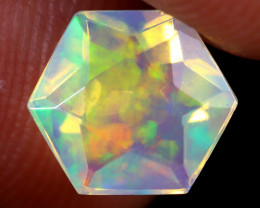 1.14cts Natural Ethiopian Hexagon Faceted Welo Opal / UX902