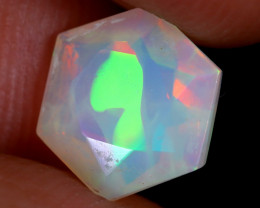 1.44cts Natural Ethiopian Hexagon Faceted Welo Opal / UX910