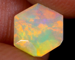 0.82cts Natural Ethiopian Hexagon Faceted Welo Opal / UX922