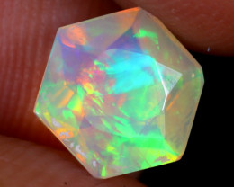 1.06cts Natural Ethiopian Hexagon Faceted Welo Opal / UX925