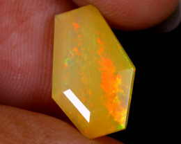 2.36cts Natural Ethiopian Coffin Cut Double Faceted Welo Opal / UX926