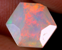 1.07cts Natural Ethiopian Hexagon Faceted Welo Opal / UX929