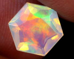 1.13cts Natural Ethiopian Hexagon Faceted Welo Opal / UX942