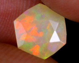 1.00cts Natural Ethiopian Hexagon Faceted Welo Opal / UX948