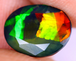 1.51cts Natural Ethiopian Faceted Smoked Welo Opal / UX950