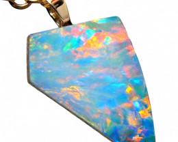 Australian Opal Pendant 14k Gold Doublet 2.75ct RRP: $355! NR
