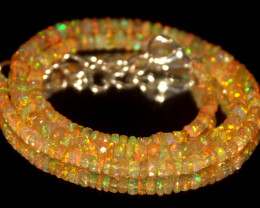 37 Crts Natural Welo Faceted Opal Beads Necklace 443