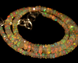 36.30 Crts Natural Welo Faceted Opal Beads Necklace 450