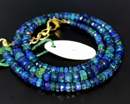 43 Crts Natural Welo Faceted Smoked Opal Beads Necklace 8