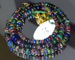 47 Crts Natural Welo Smoked Opal Beads Necklace 16