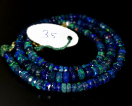 42.15 Crts Natural Welo Faceted Smoked Opal Beads Necklace 35