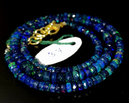 42 Crts Natural Welo Faceted Smoked Opal Beads Necklace 37