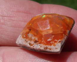 14.67 Ct Faceted Mexican Cantera Fire Opal Cabochon