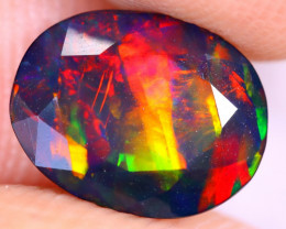 1.36cts Natural Ethiopian Welo Faceted Smoked Opal / UX1065